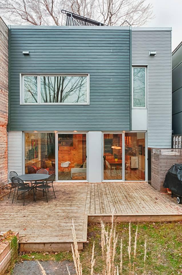 House construction de brébeuf street Montreal